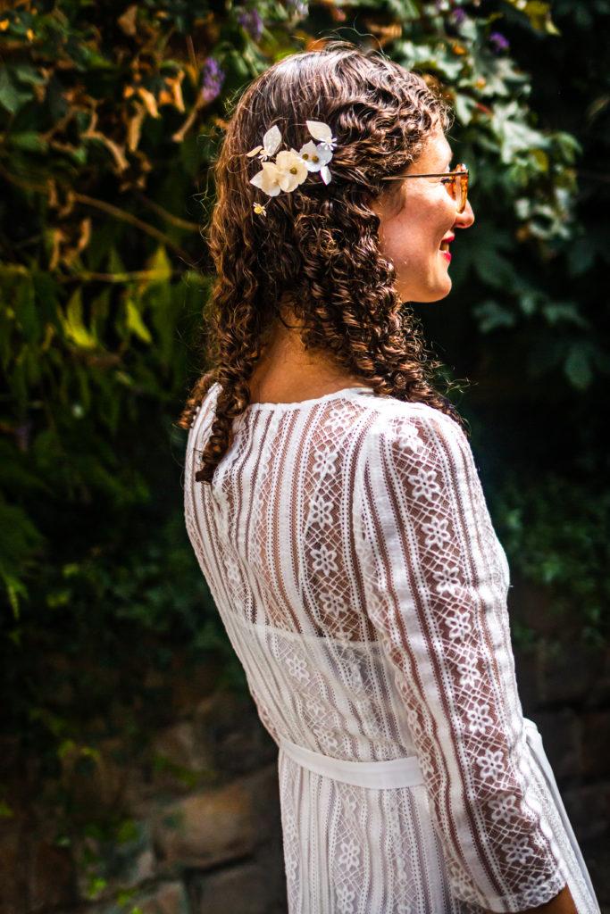 Barrette Anna pour coiffure de mariée. Crédit Photo : SebTricart